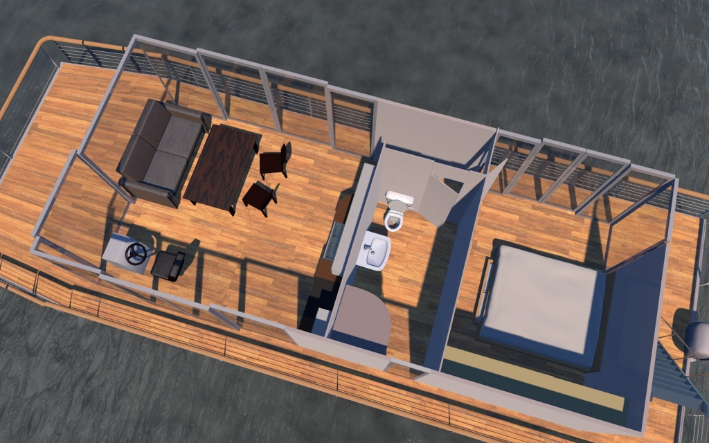 Houseboat Diy 12m Houseboat Waterbus